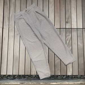 DIVIDED Brown & Black Plaid High Waisted Trousers
